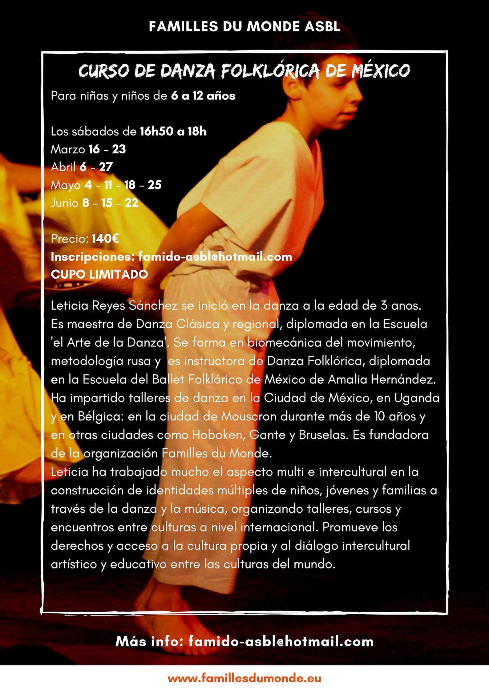 Curso de danza mexicana ES verso